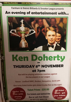 An Evening with Ken Doherty