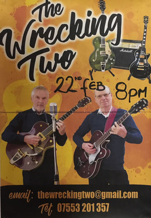 The Wrecking Two – Saturday 22nd Feb @ 8pm